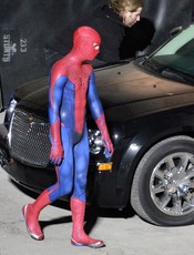 El actor Andrew Garfield como Spiderman