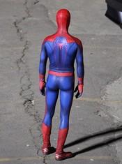 Imagen trasera de Andrew Garfield como Spiderman