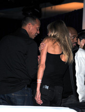 Álex Rodríguez y Cameron Díaz en la fiesta previa a la Super Bowl 2011