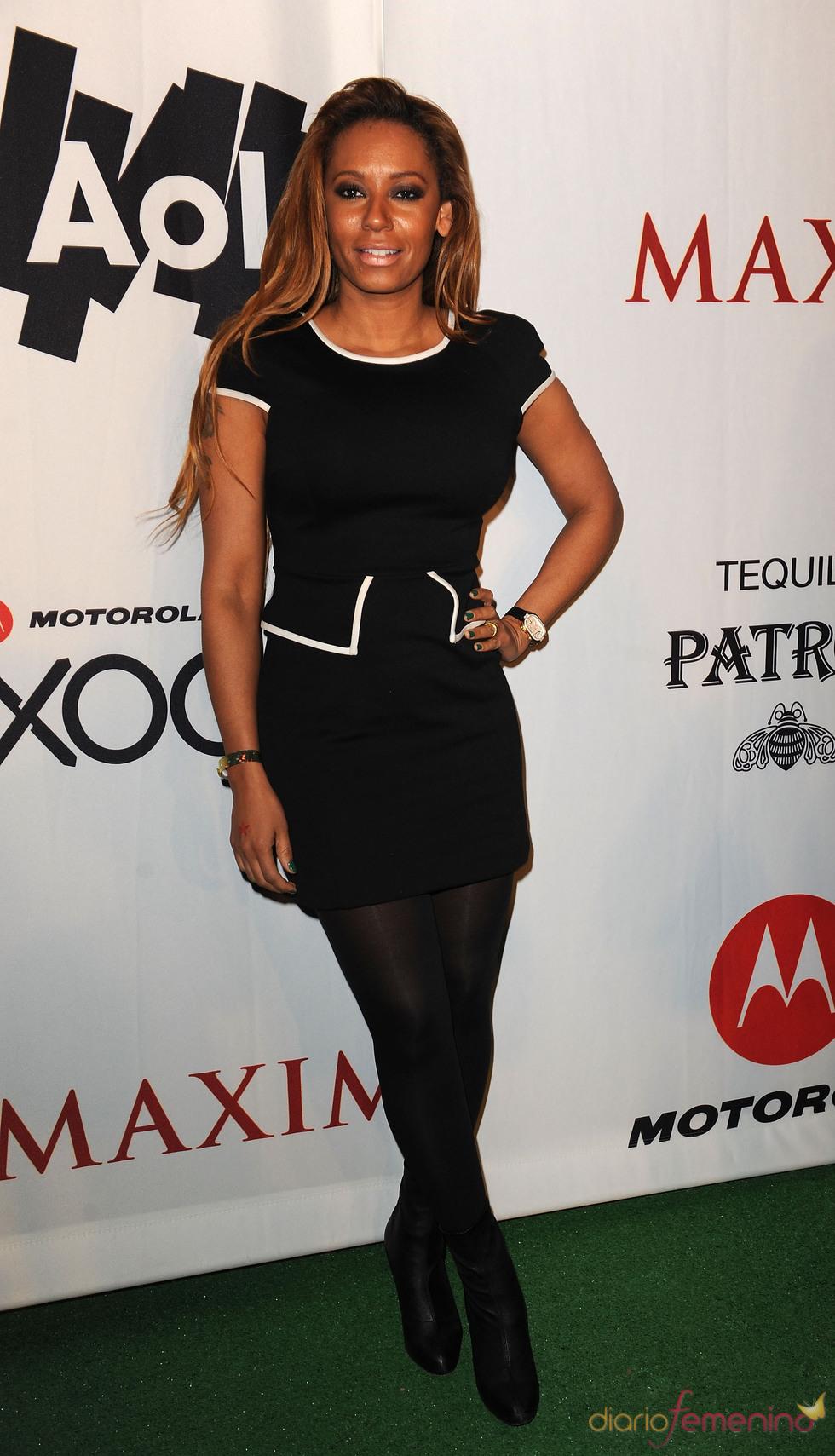 Melanie Brown en la fiesta previa a la Super Bowl 2011