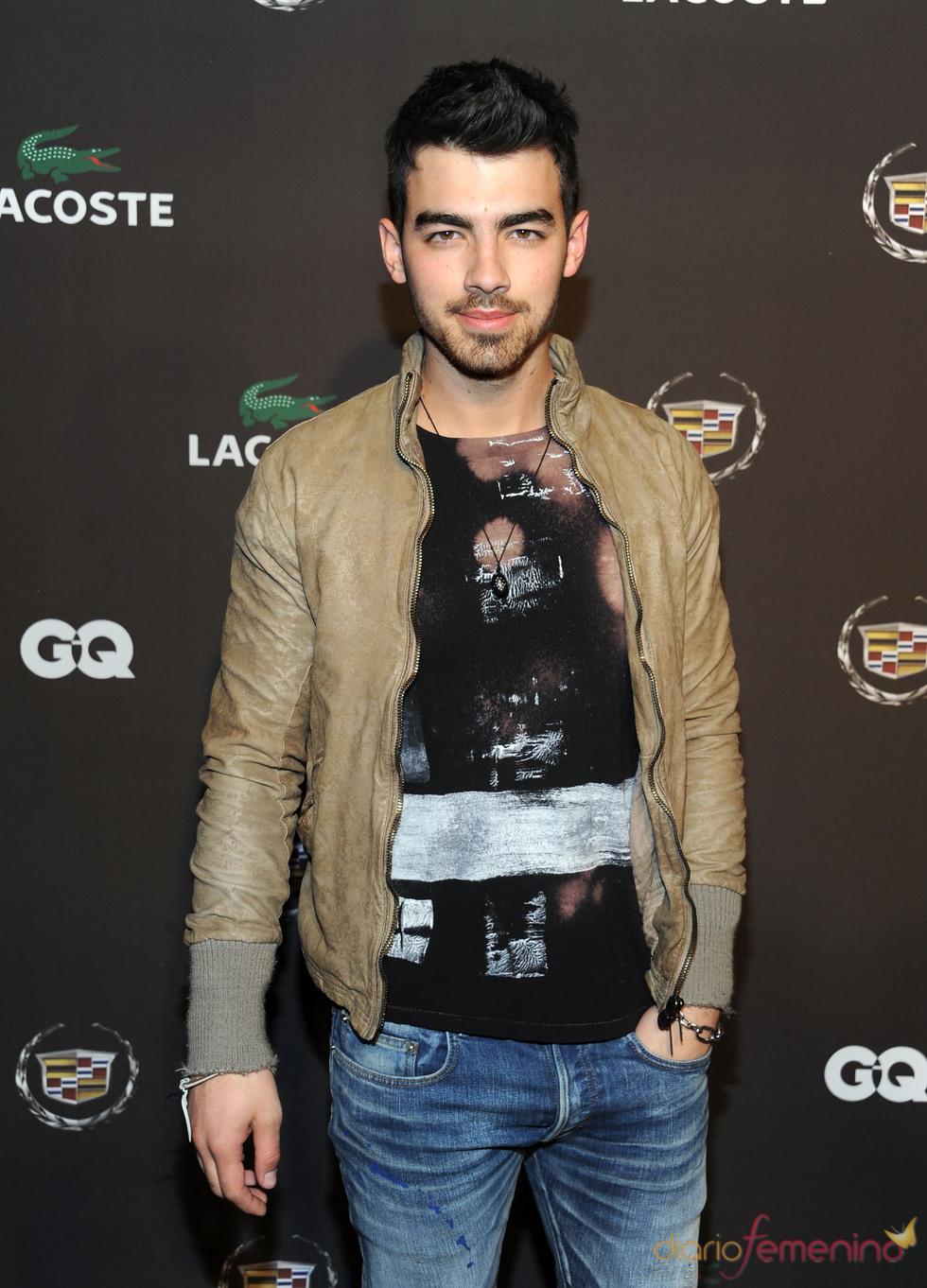 Joe Jonas en una de las fiestas previas al final de la Super Bowl 2011