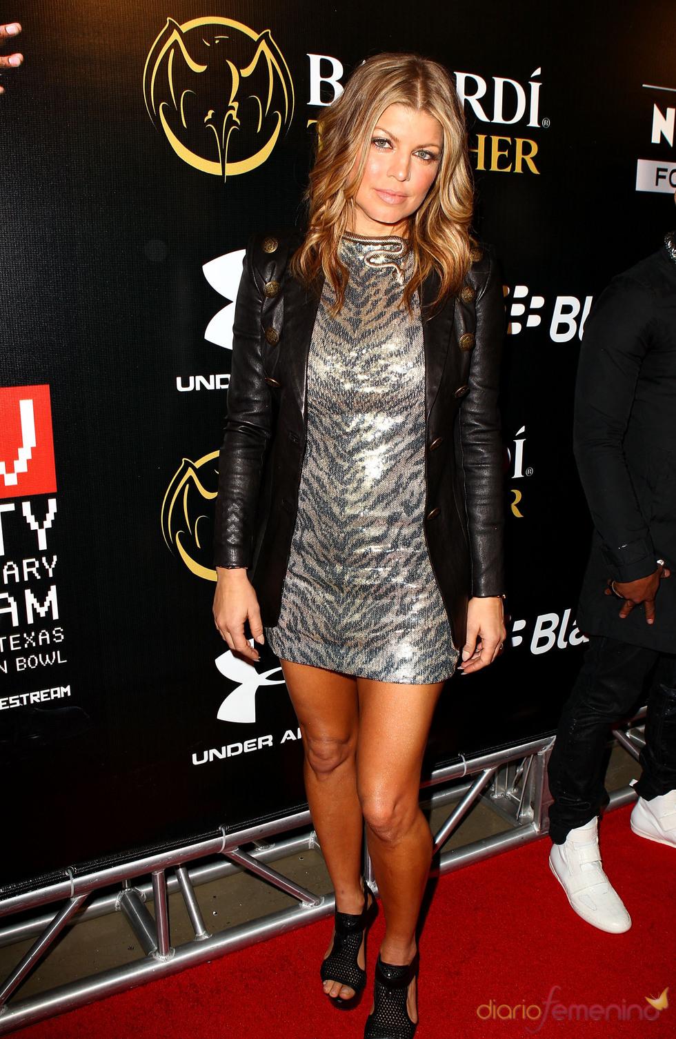 Fergie en una de las fiestas previas a la final de la Super Bowl 2011