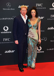 Boris Becker y su mujer Sharely Becker en la Laureus Welcome party
