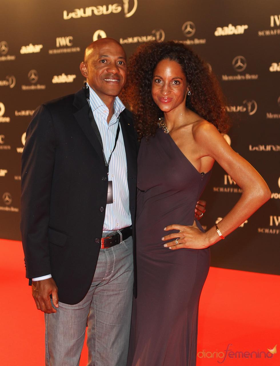 El ex atleta namibio Frankie Fredericks en la Laureus Welcome Party