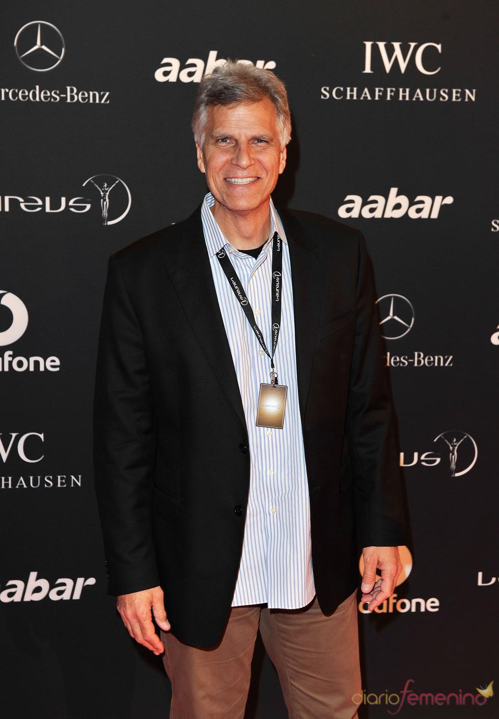 El nadador olímpico Mark Spitz en la Laureus Welcome Party