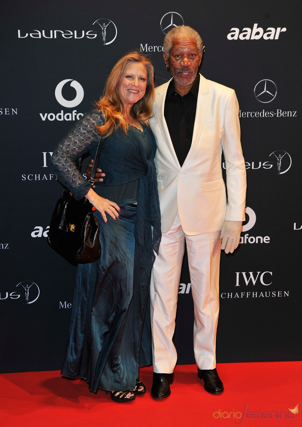 El actor americano Morgan Freeman en la Laureus Welcome Party