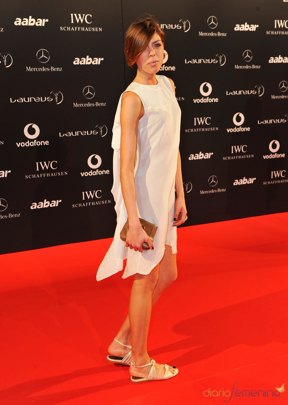 La atleta croata Blanka Vlasic en la Laureus Welcome Party