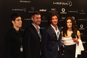 Victor Baia y Fernando Couto en la Laureus Welcome Party