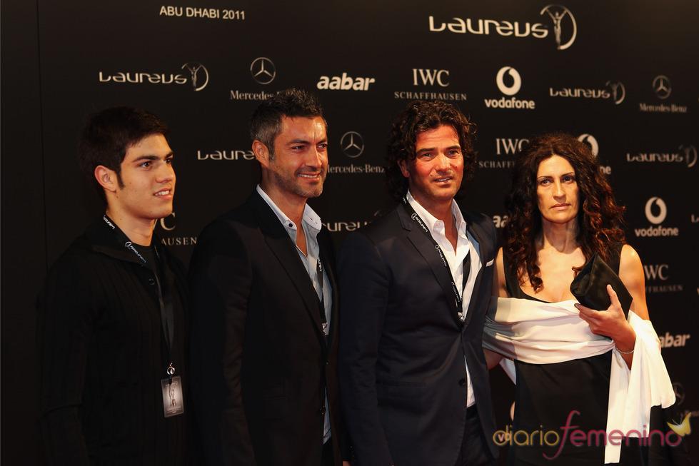 Victor Baia y Fernando Couto en la Laureus Welcome Party