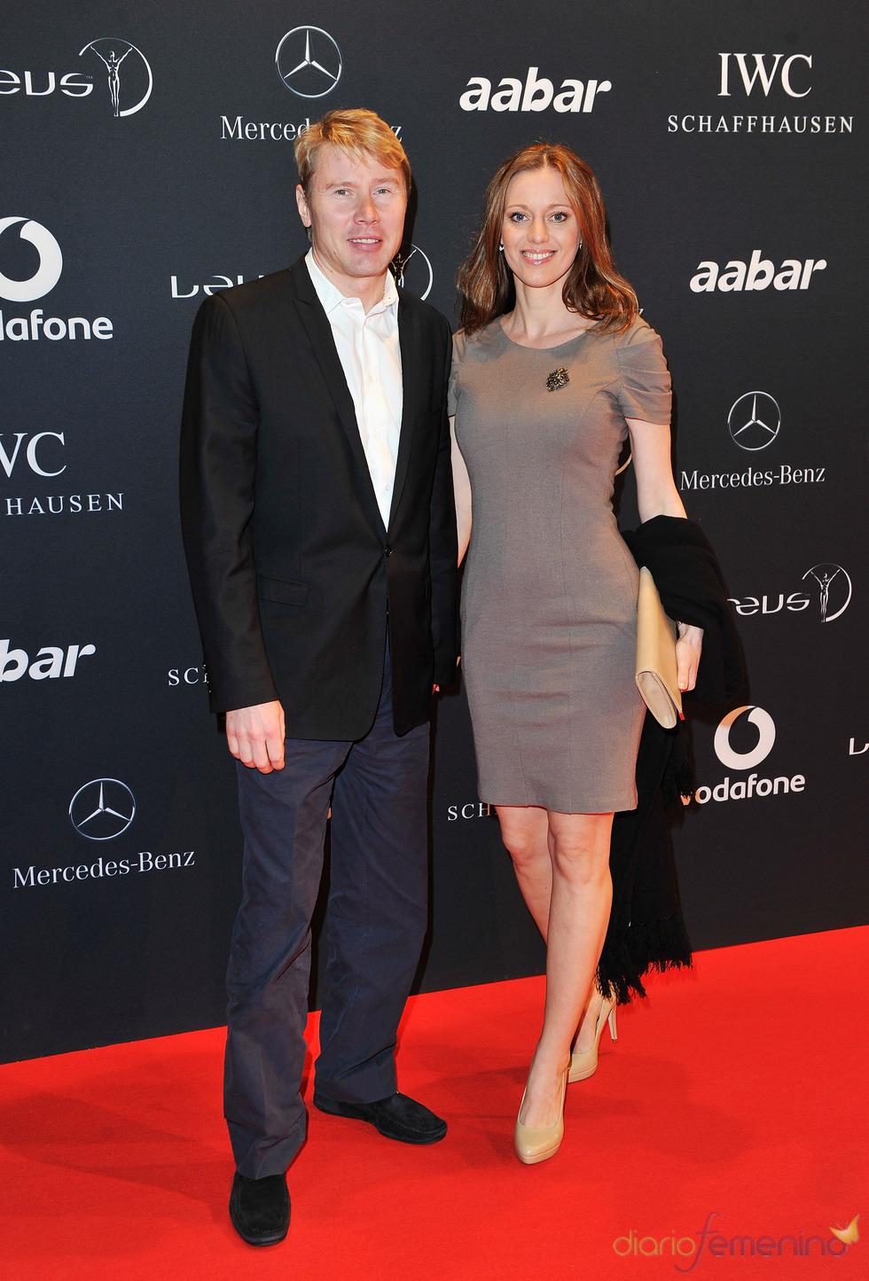 El piloto finlandés Mika Hakkinen en la Laureus Welcome Party