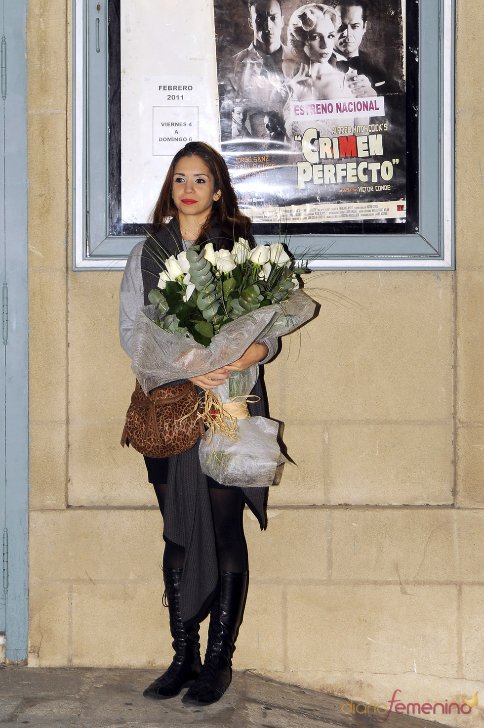 Elena Furiase, feliz en su debut teatral