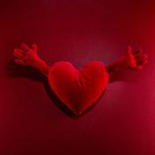 Cojín en forma de corazón de Ikea