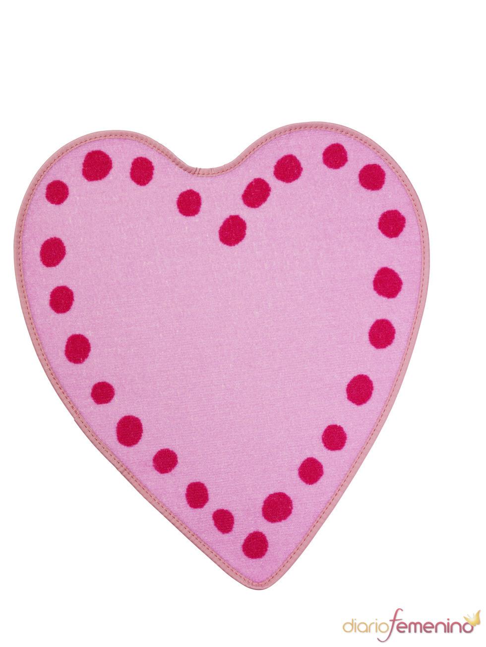 Alfombra con forma de corazón de Ikea