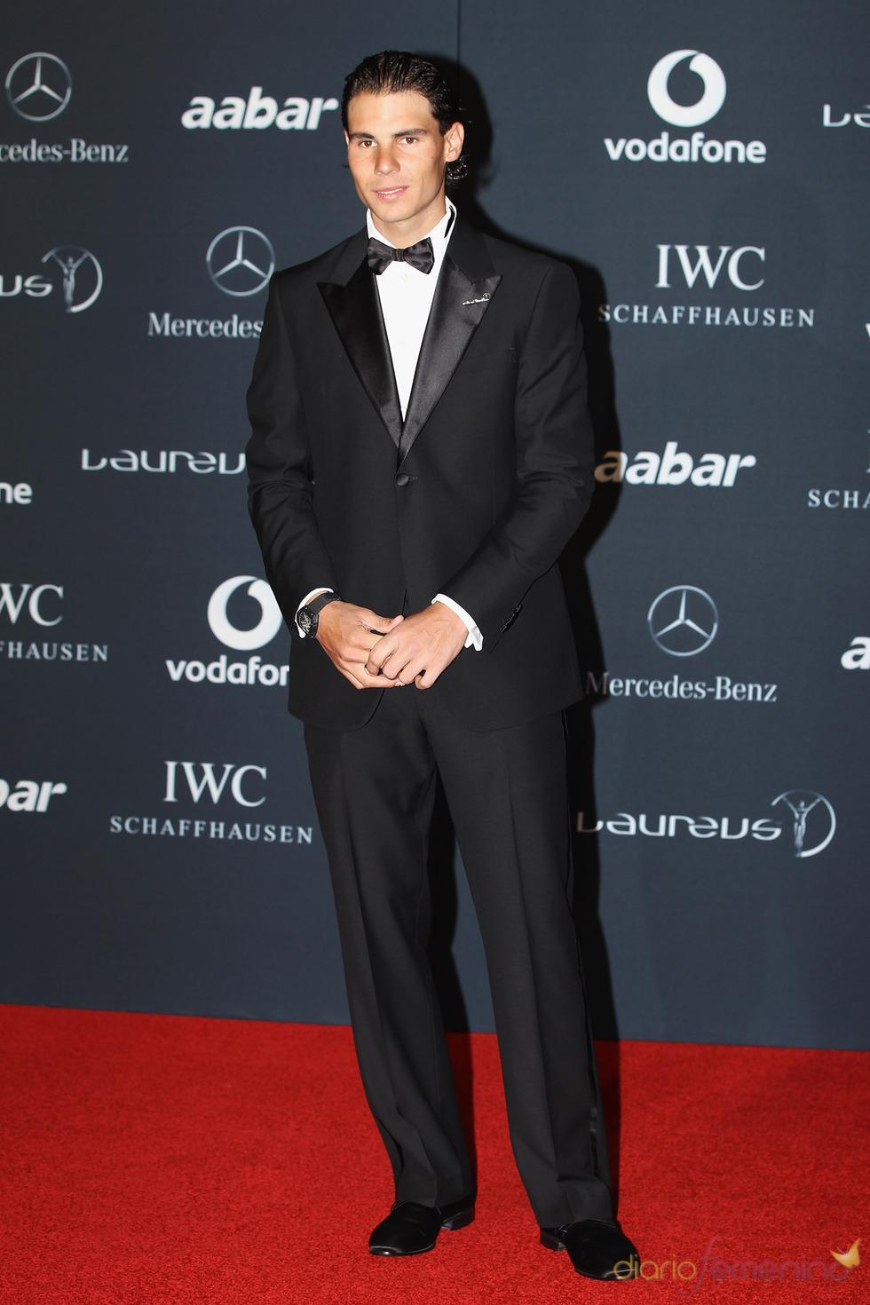Rafa Nadal en la alfombra roja de los Premios Laureus 2011