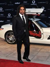 Christian Karembeu en la alfombra roja de los Premios Laureus 2011