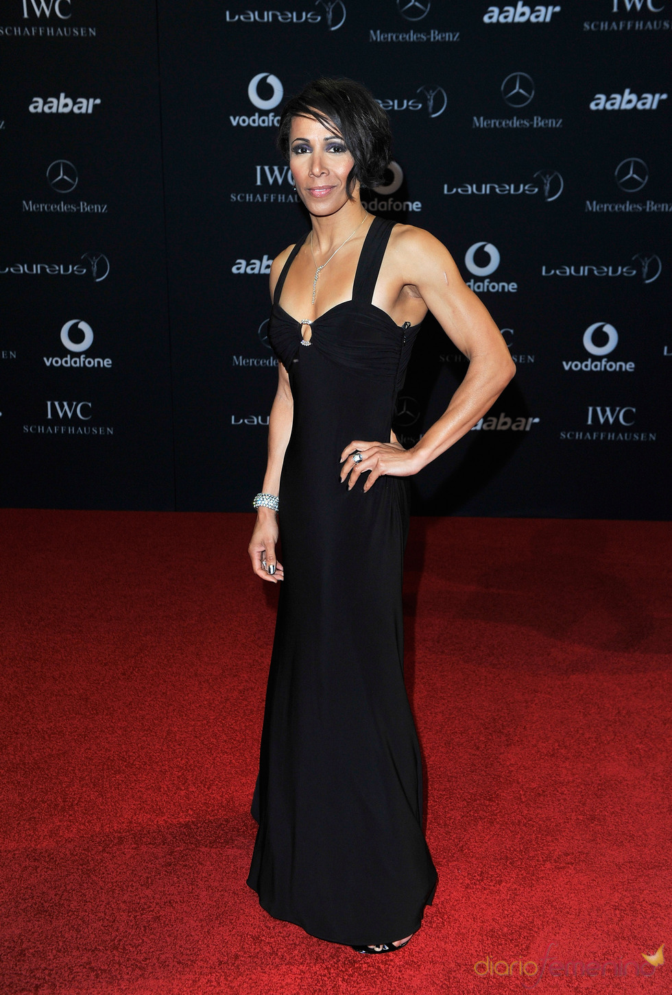 Kelly Holmes en la alfombra roja de los Premios Laureus 2011