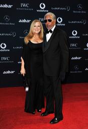 Morgan Freeman en la alfombra roja de los Premios Laureus 2011