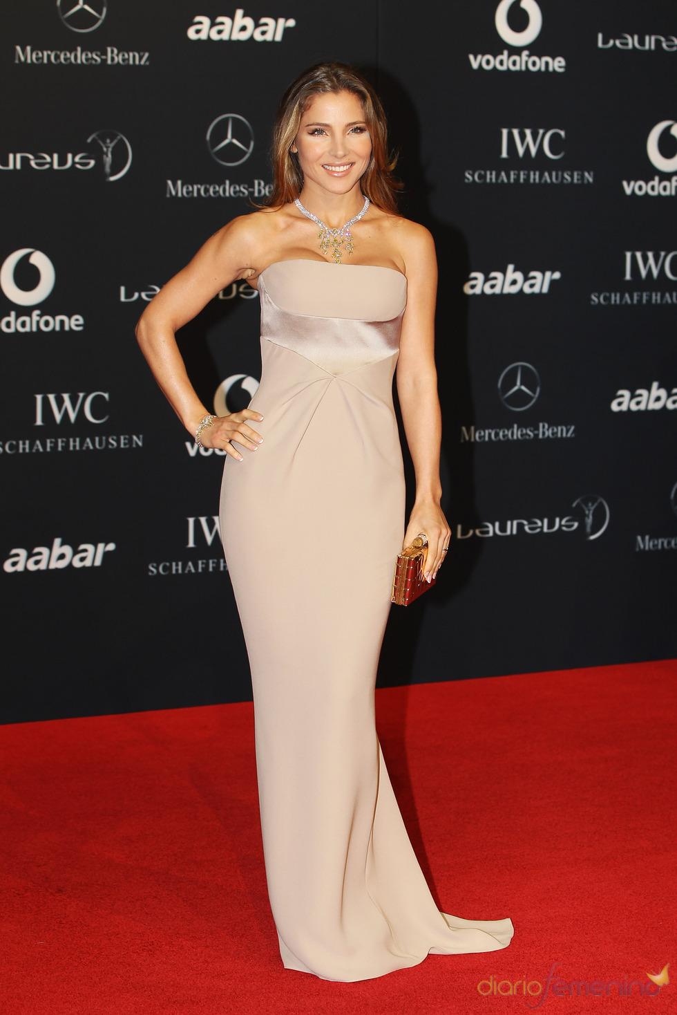 Elsa Pataky en la alfombra roja de los Premios Laureus 2011