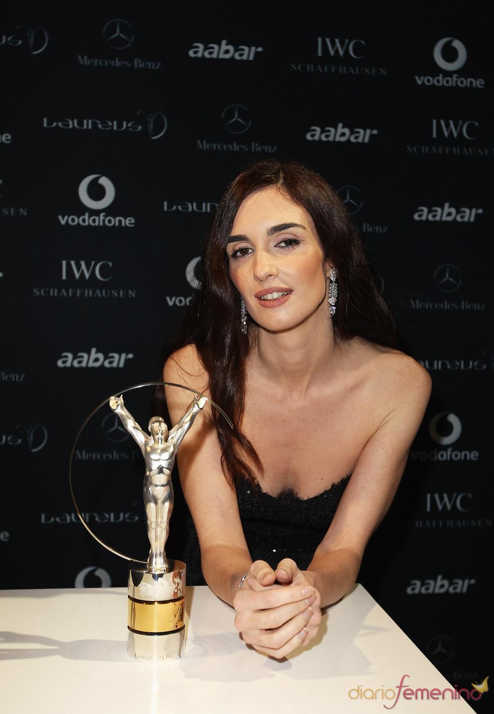 Paz Vega con el Premio Laureus 2011