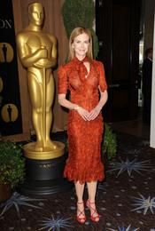 Nicole Kidman en el almuerzo de los nominados a los Oscar 2011