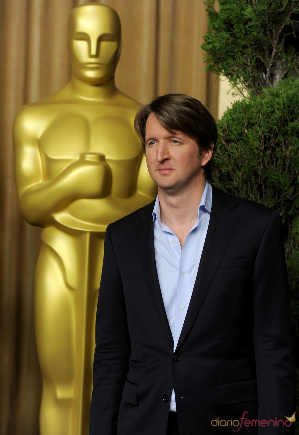 Tom Hooper en el almuerzo de los nominados a los Oscar 2011