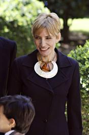 Sonsoles Espinosa, mujer del Presidente español José Luis Rodriguez Zapatero
