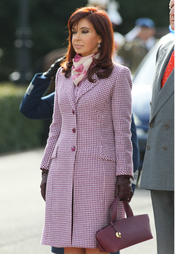 Cristina Kirchner, ex primera dama argentina y actual Presidenta