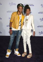 Jaden y Willow Smith en la premier de la película de Justin Bieber
