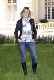 La actriz Carolina Bang con un look muy sencillo