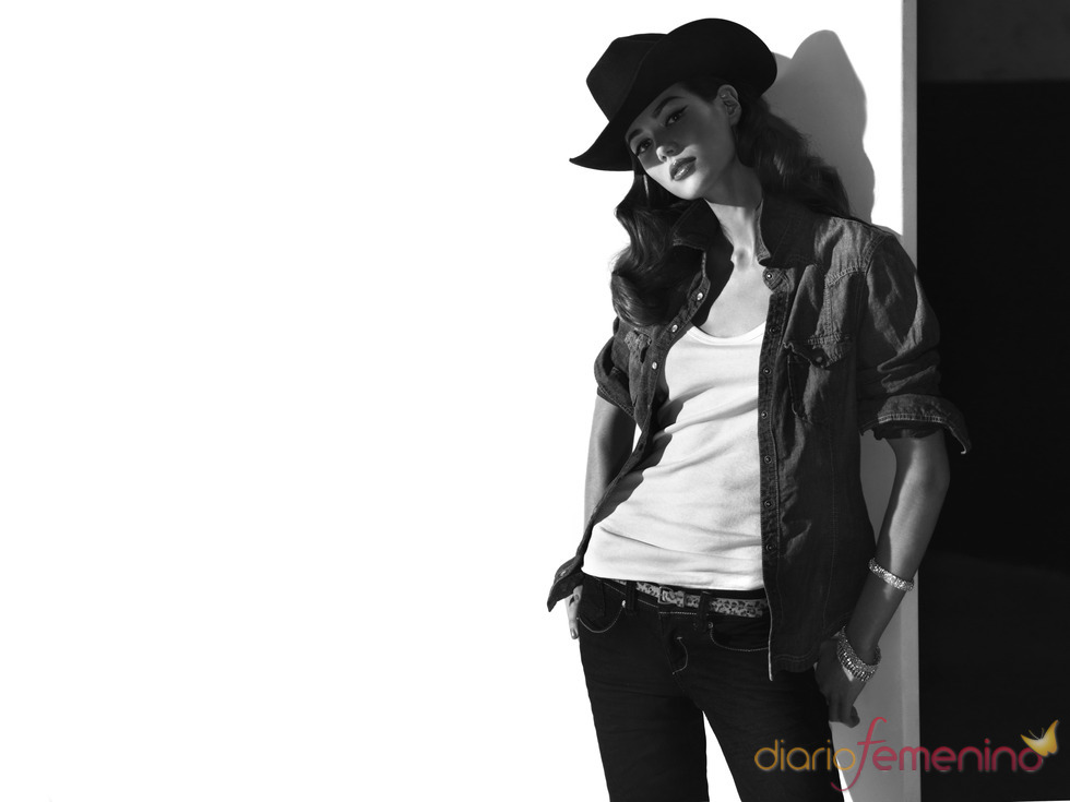 Cowgirl style para chica, Blanco