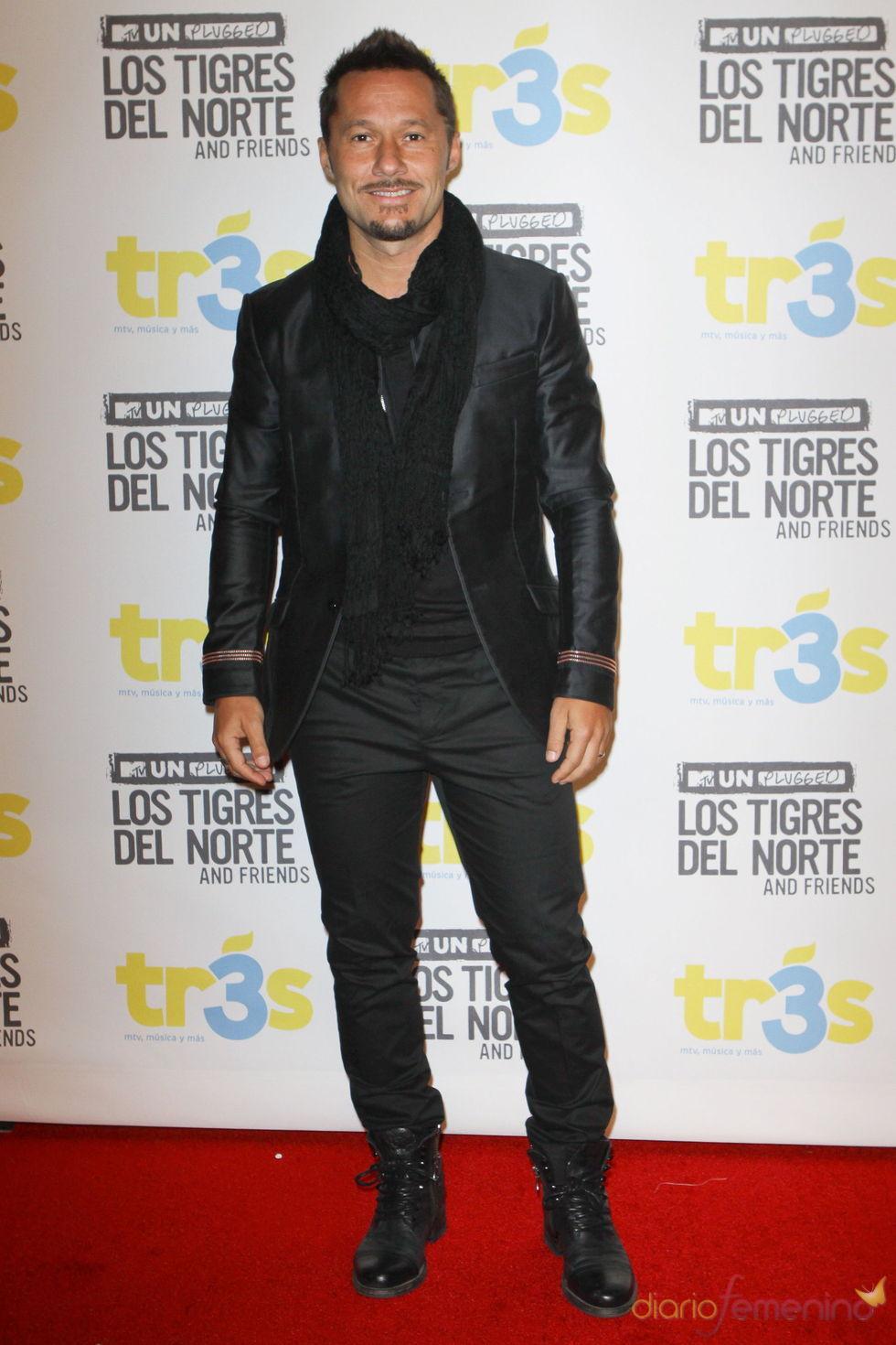 Diego Torres en el unplugged de la MTV de 'Los Tigres del Norte'