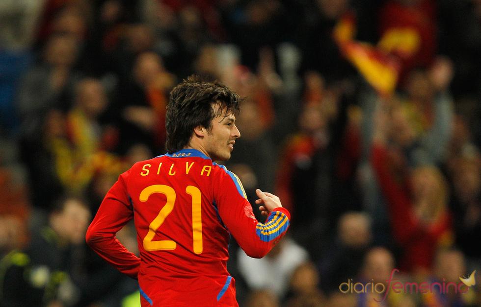 David Silva, jugador de la selección española