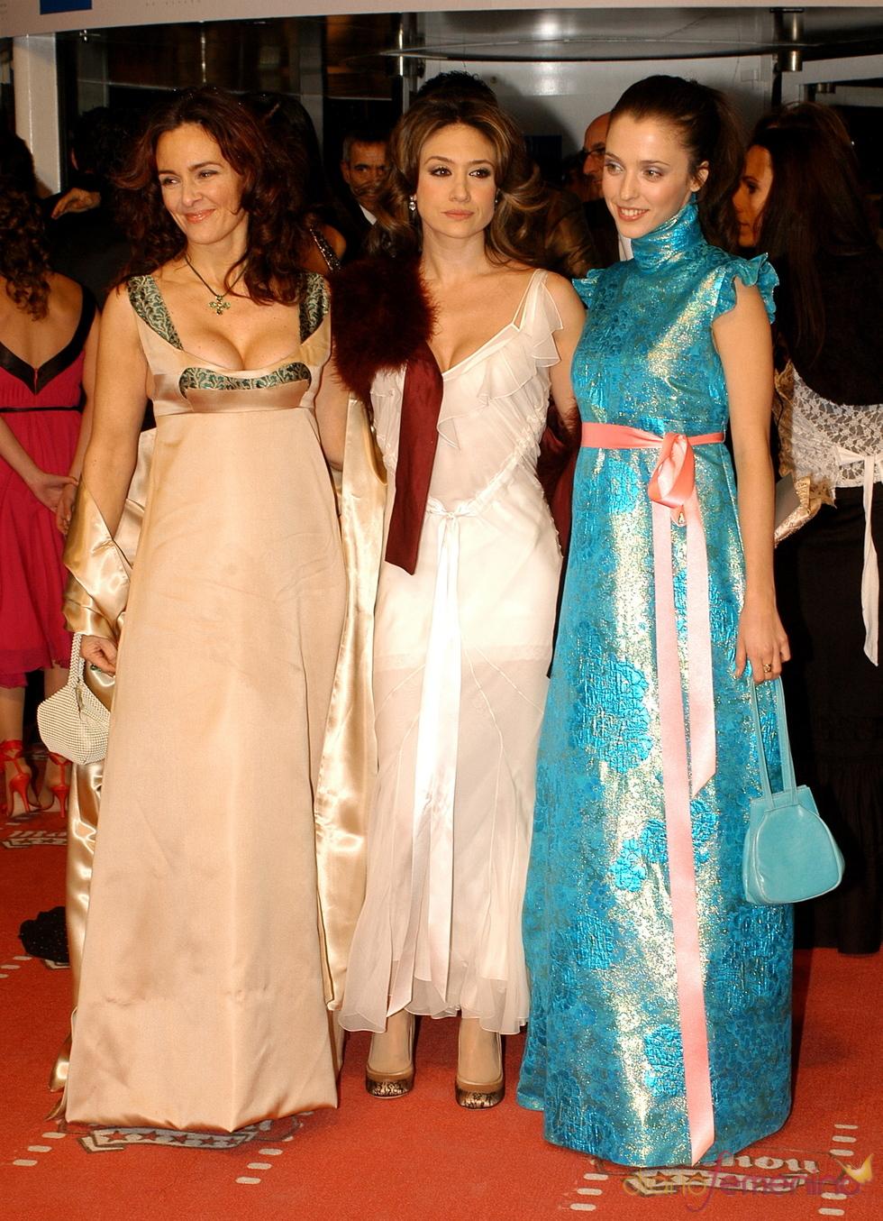 Silvia Marsó, María Botto y Leticia Dolera en los premios Goya 2006