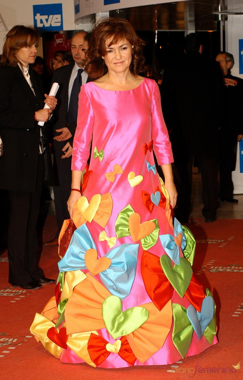 La ex ministra de cultura Carmen Calvo en los premios Goya 2006