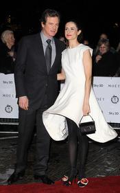 Colin Firth y Livia Giuggioli en los Premios de la Crítica de Londres 2011