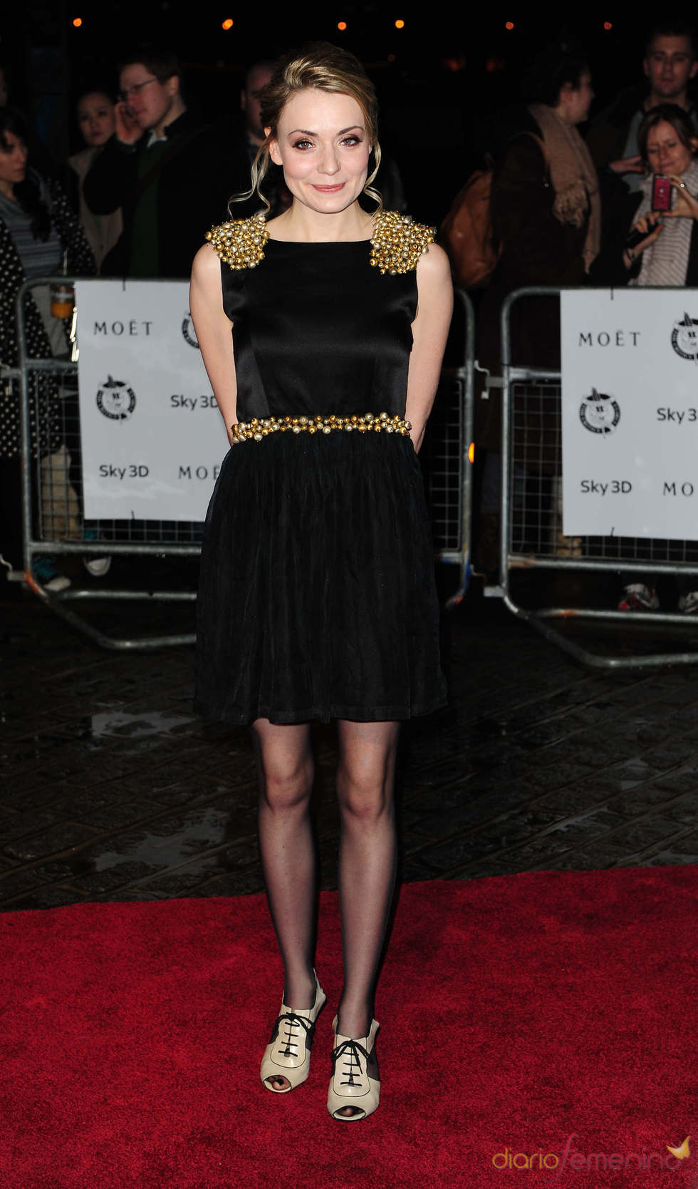 Christine Bottomley en los premios de la Crítica de Londres 2011