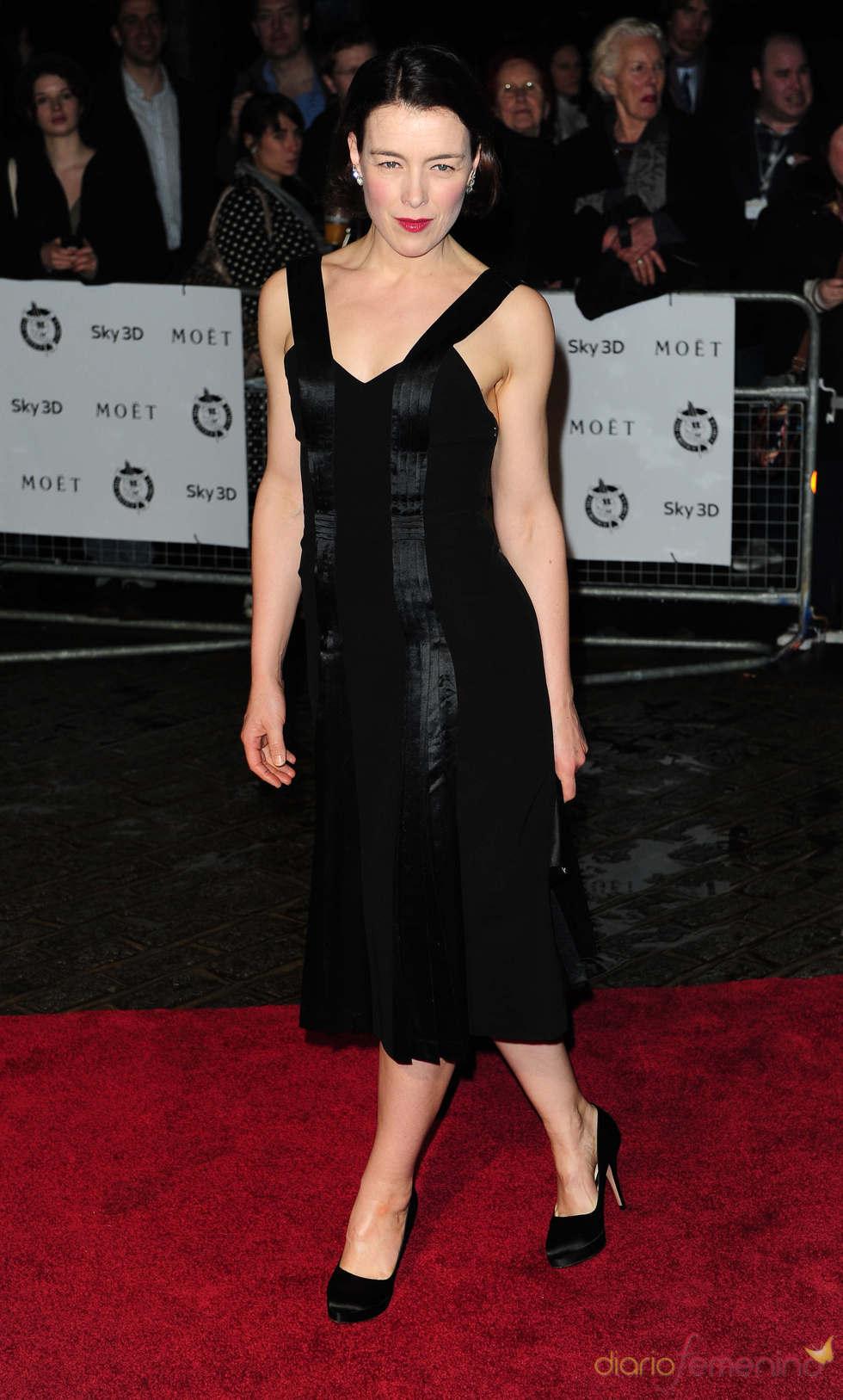Olivia Williams en los premios de la Crítica de Londres 2011