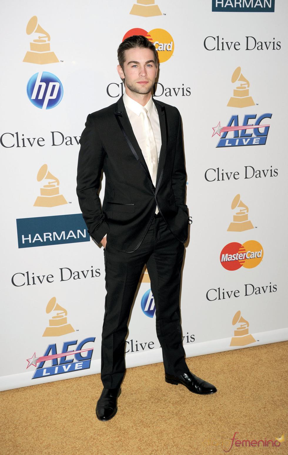 Chase Crawford en la fiesta previa a los Grammy 2011