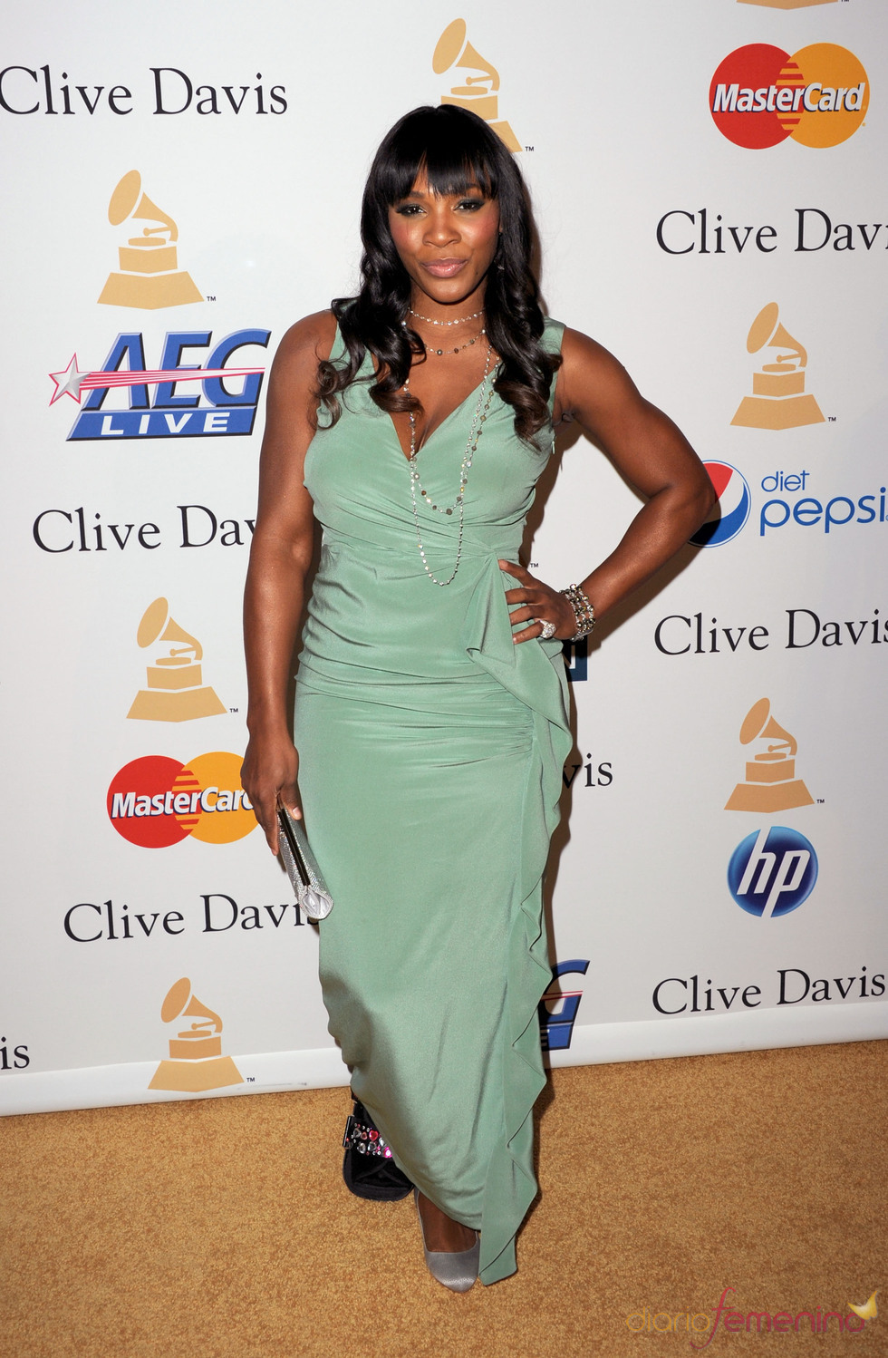 Serena Williams en la fiesta previa a los Grammy 2011