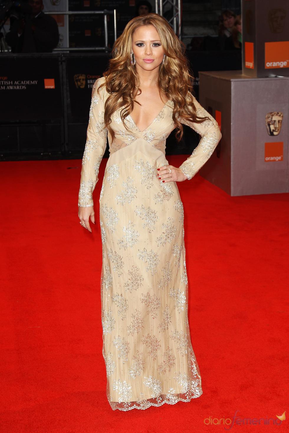 Kimberley Walsh en la alfombra roja de los Bafta 2011