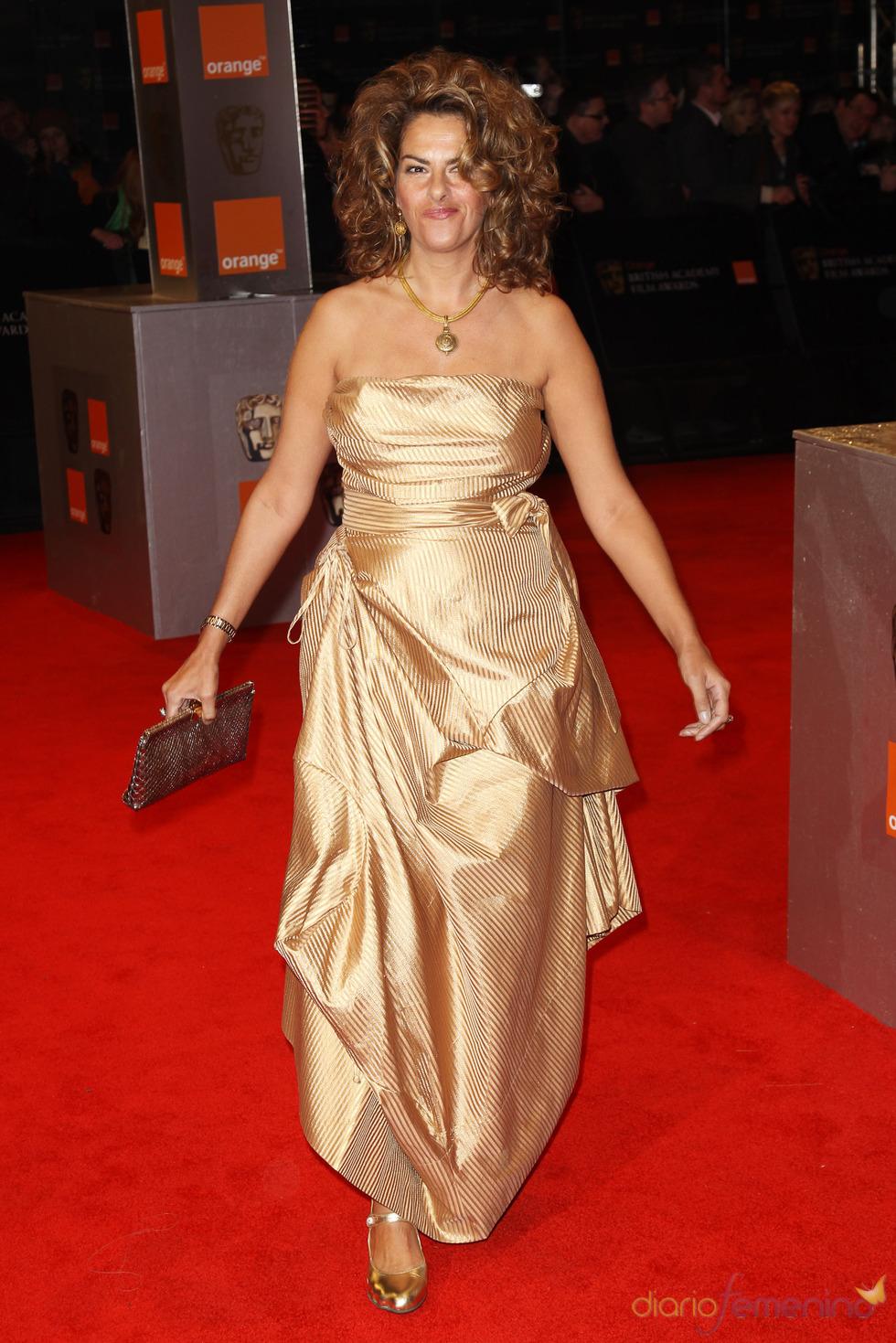 Tracy Emin en la alfombra roja de los Bafta 2011
