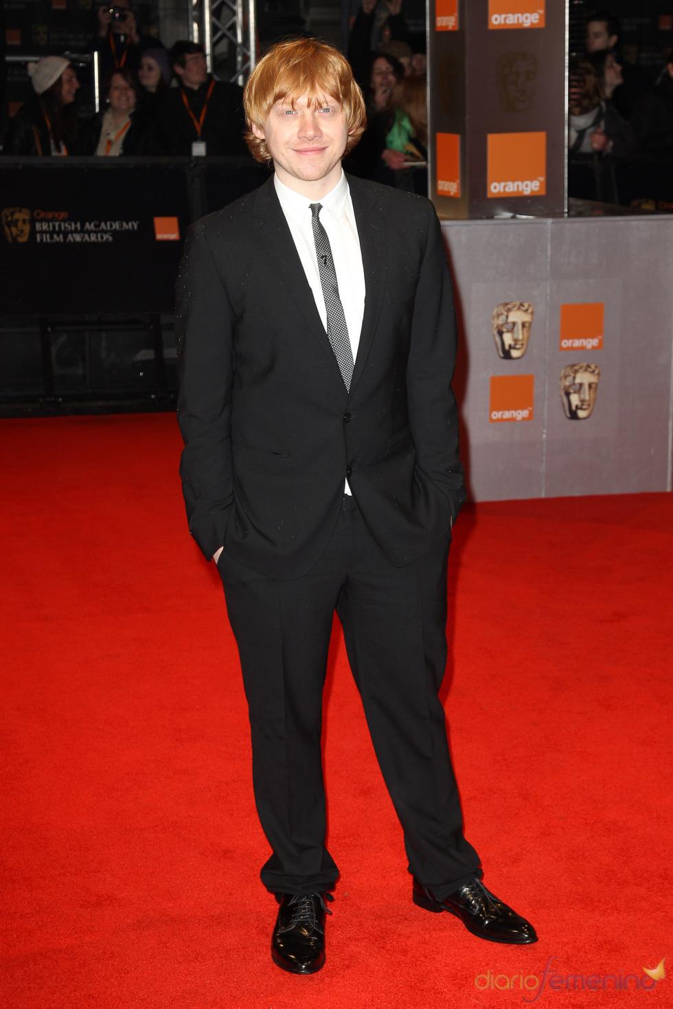 Rupert Grint en la alfombra roja de los Bafta 2011