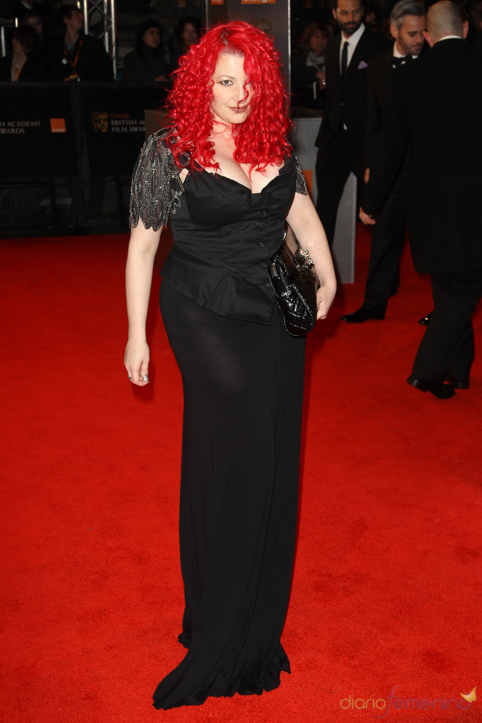 Jane Goldman en la alfombra roja de los Bafta 2011