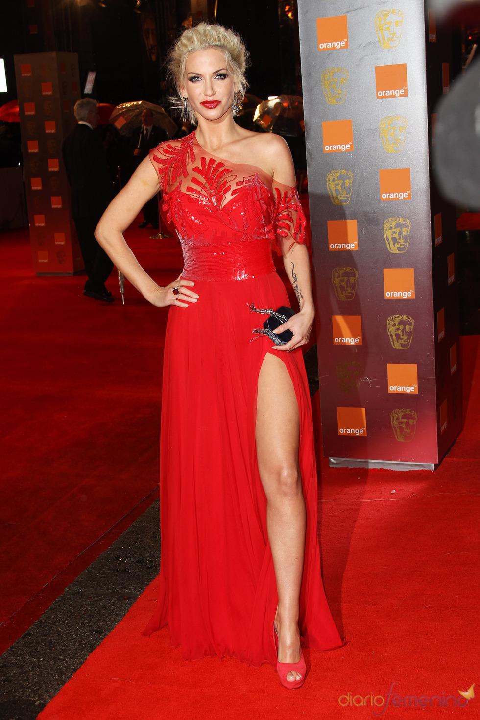 Sarah Harding en la Alfombra roja de los Bafta 2011