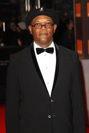 Samuel L Jackson en la alfombra roja de los Bafta 2011