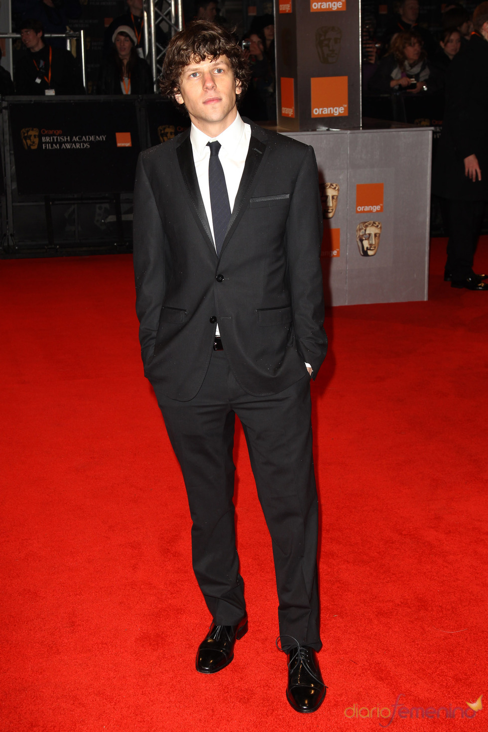 Jesse Eisenberg en la alfombra roja de los Bafta 2011