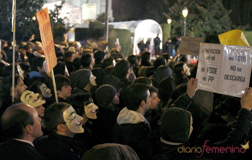 Protestas contra la Ley Sinde en los Goya