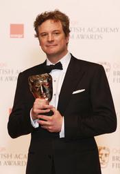 Colin Firth con su Bafta 2011 como 'Mejor actor'