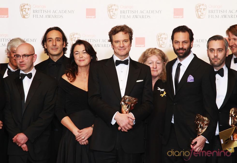 Elenco de 'El discurso del Rey' en los Bafta 2011