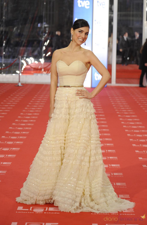 Cristina Brondo en la alfombra roja de los Goya 2011